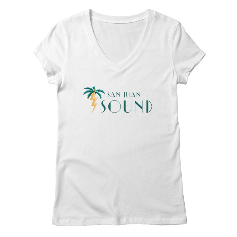 San Juan Sound Logo Women's Regular V-Neck by San Juan Sound's Shop
