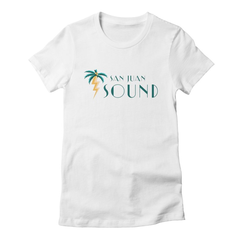 San Juan Sound Logo Women's Fitted T-Shirt by San Juan Sound's Shop