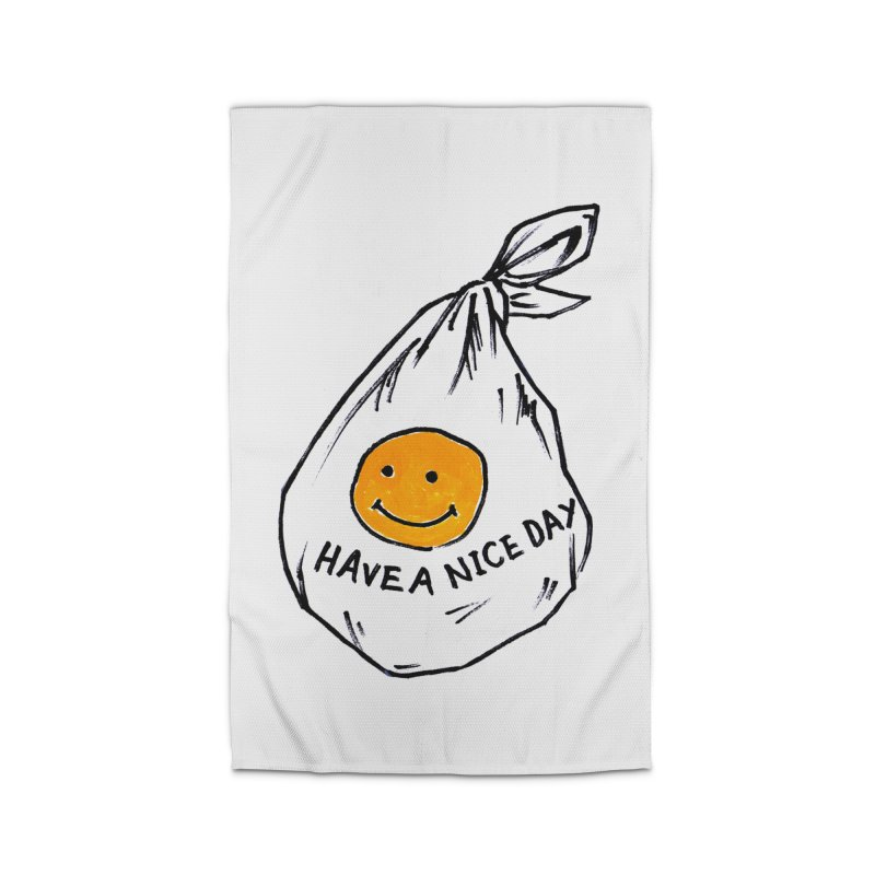 smily bag Home Rug by sanpo's Artist Shop