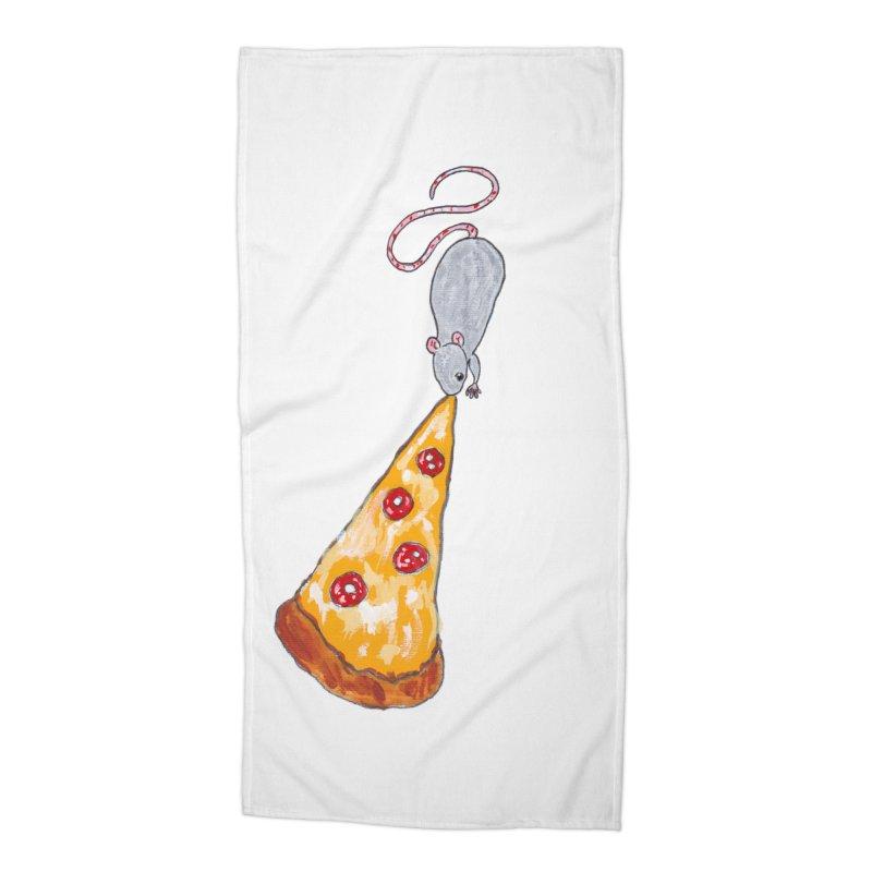 Pizza Rat Accessories Beach Towel by sanpo's Artist Shop