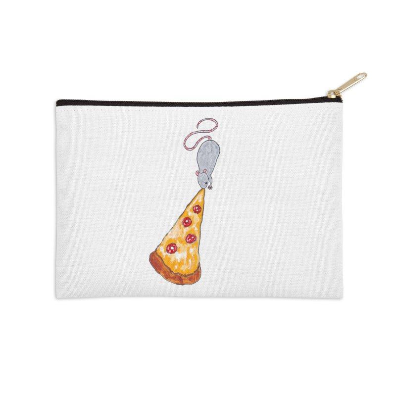 Pizza Rat Accessories Zip Pouch by sanpo's Artist Shop