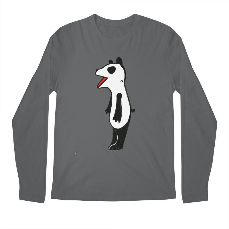 absorbed panda Men's Longsleeve T-Shirt by sanpo's Artist Shop