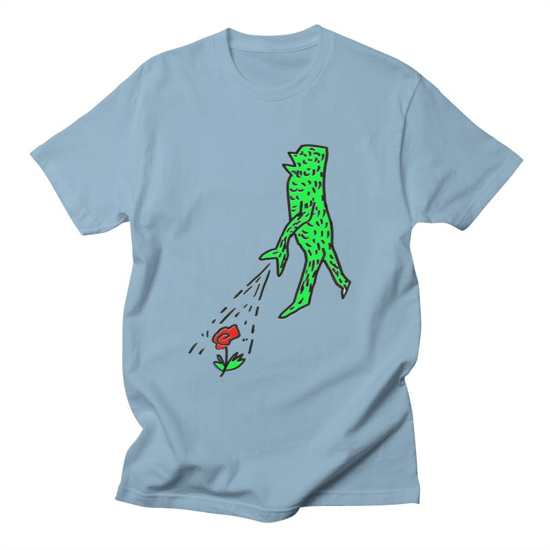 Flower & Monster Men's T-Shirt by sanpo's Artist Shop