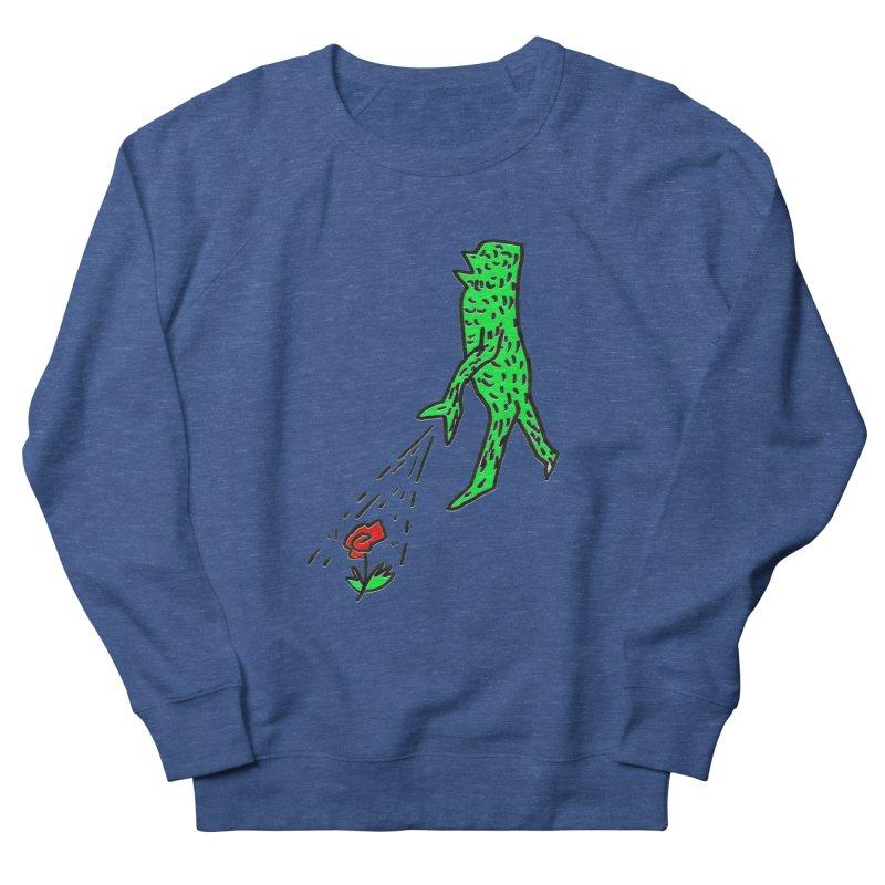 Flower & Monster Men's Sweatshirt by sanpo's Artist Shop