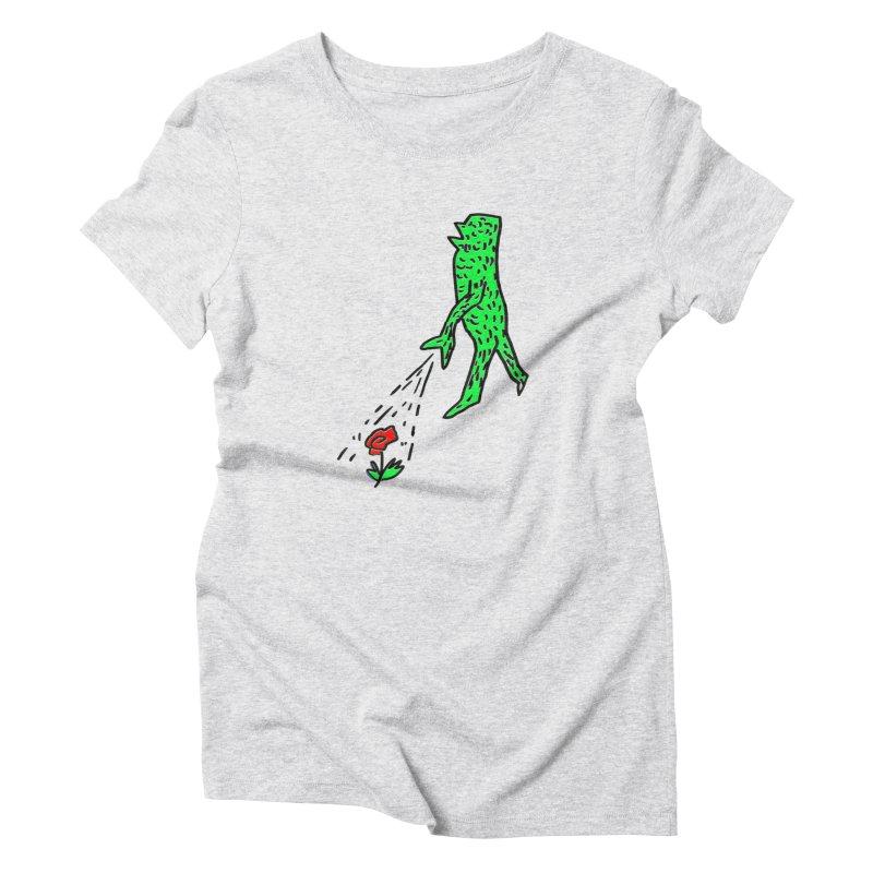 Flower & Monster Women's T-Shirt by sanpo's Artist Shop