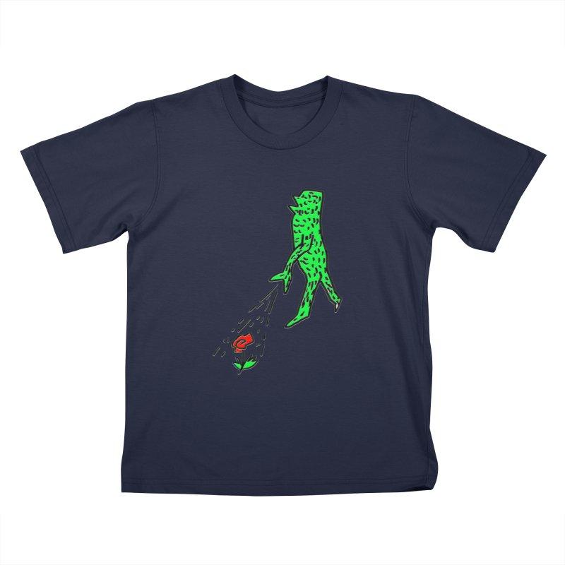 Flower & Monster Kids T-Shirt by sanpo's Artist Shop