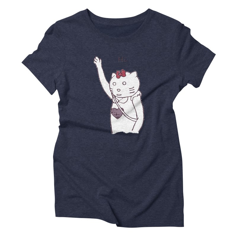 Cat costume woman at Times Square Women's T-Shirt by sanpo's Artist Shop