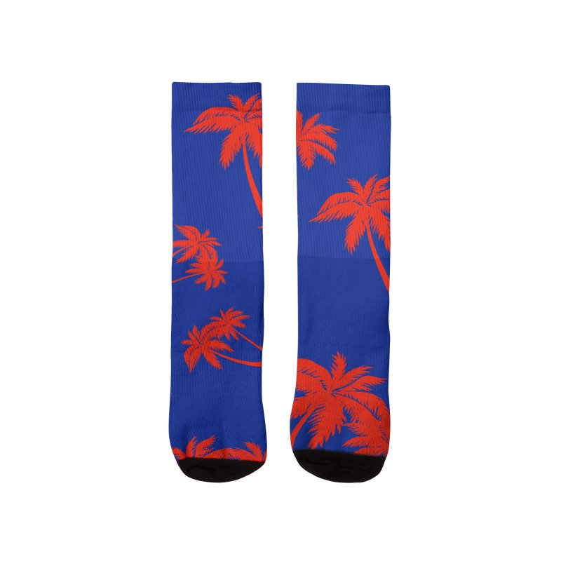palm tree socks Women's Socks by Diseños Sanuki