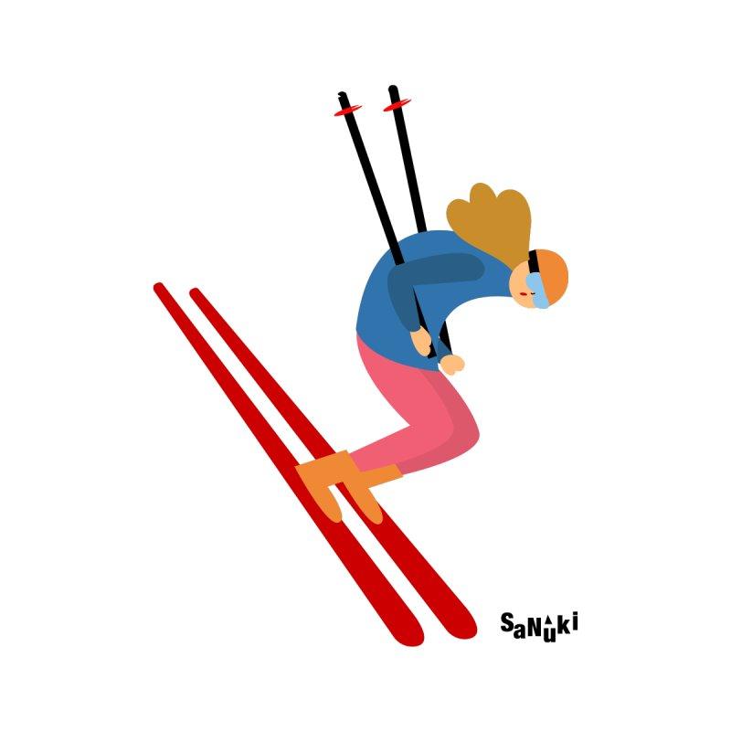 ski Women's Longsleeve T-Shirt by Diseños Sanuki