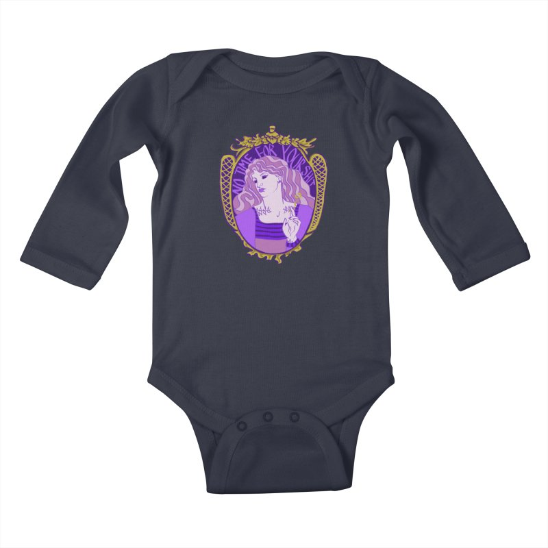 Lady with No Time For Your Shit Kids Baby Longsleeve Bodysuit by Saraemor