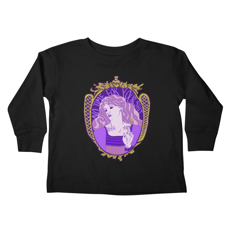Lady with No Time For Your Shit Kids Toddler Longsleeve T-Shirt by Saraemor