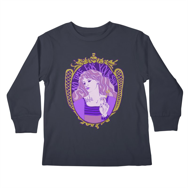 Lady with No Time For Your Shit Kids Longsleeve T-Shirt by Saraemor