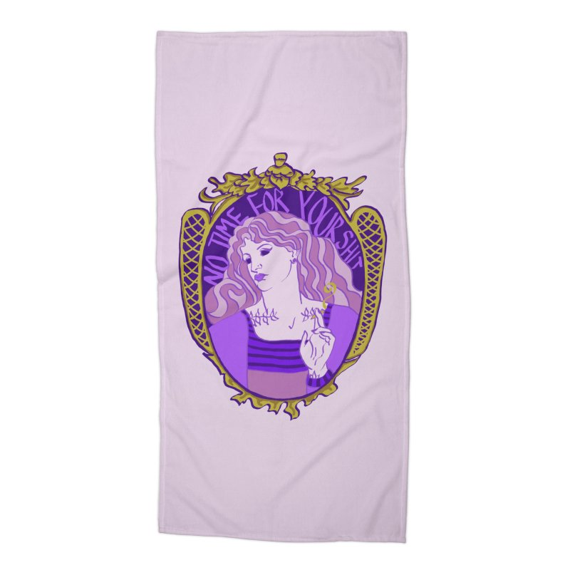 Lady with No Time For Your Shit Accessories Beach Towel by Saraemor