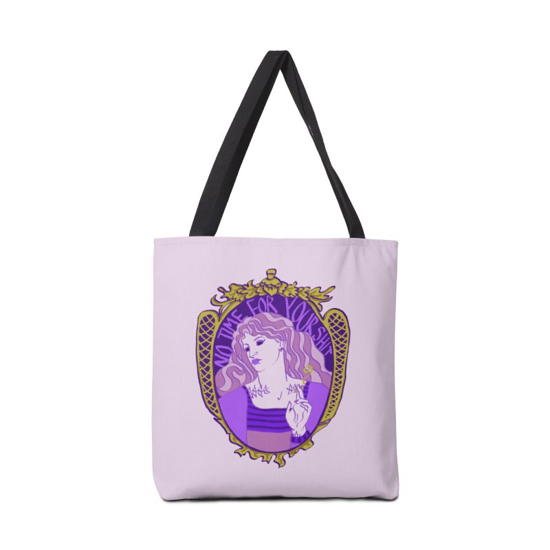 Lady with No Time For Your Shit Accessories Bag by Saraemor