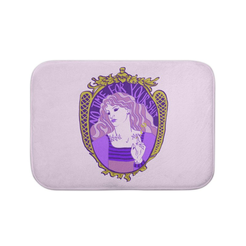 Lady with No Time For Your Shit Home Bath Mat by Saraemor