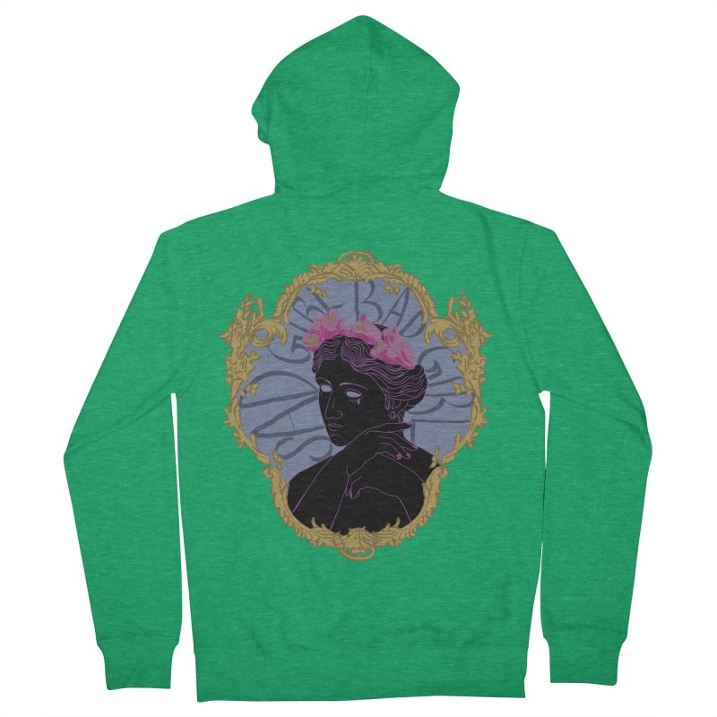 Lady Who's a Sad Girl Bad Girl Men's Zip-Up Hoody by Saraemor