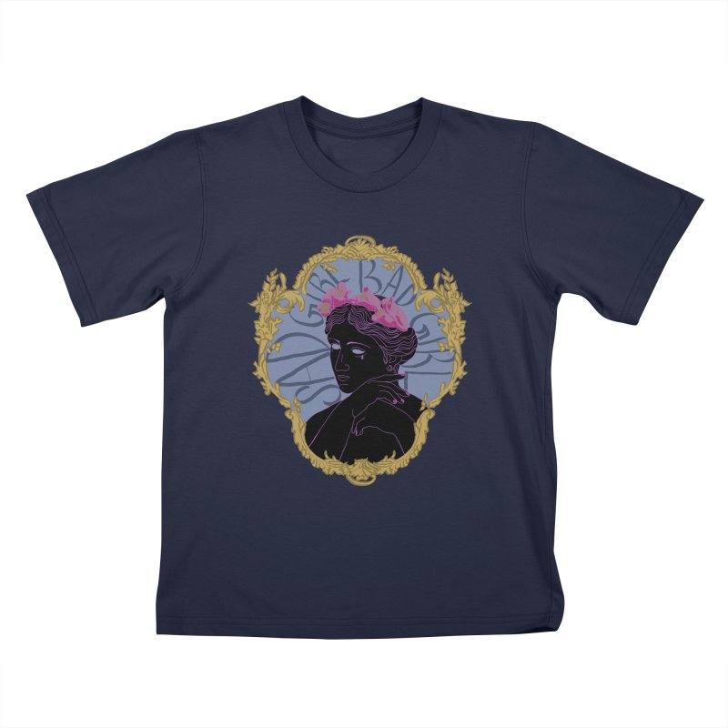 Lady Who's a Sad Girl Bad Girl Kids T-Shirt by Saraemor