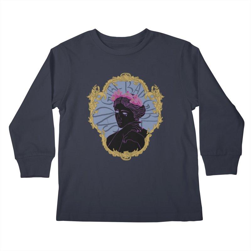 Lady Who's a Sad Girl Bad Girl Kids Longsleeve T-Shirt by Saraemor