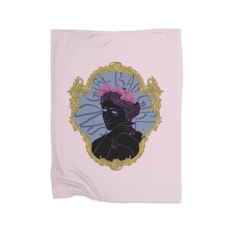 Lady Who's a Sad Girl Bad Girl Home Blanket by Saraemor