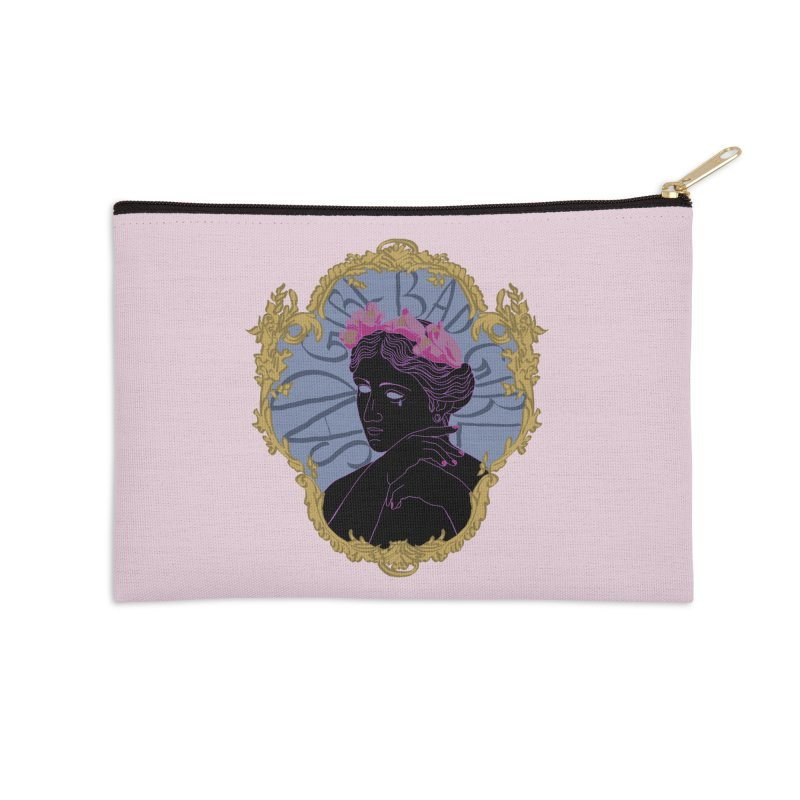 Lady Who's a Sad Girl Bad Girl Accessories Zip Pouch by Saraemor