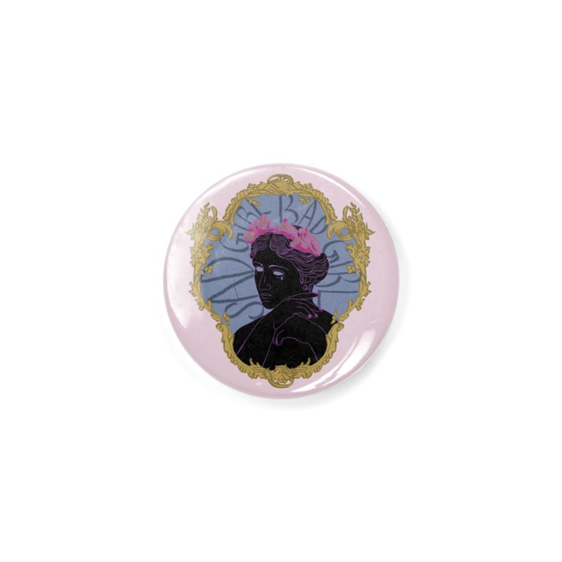 Lady Who's a Sad Girl Bad Girl Accessories Button by Saraemor