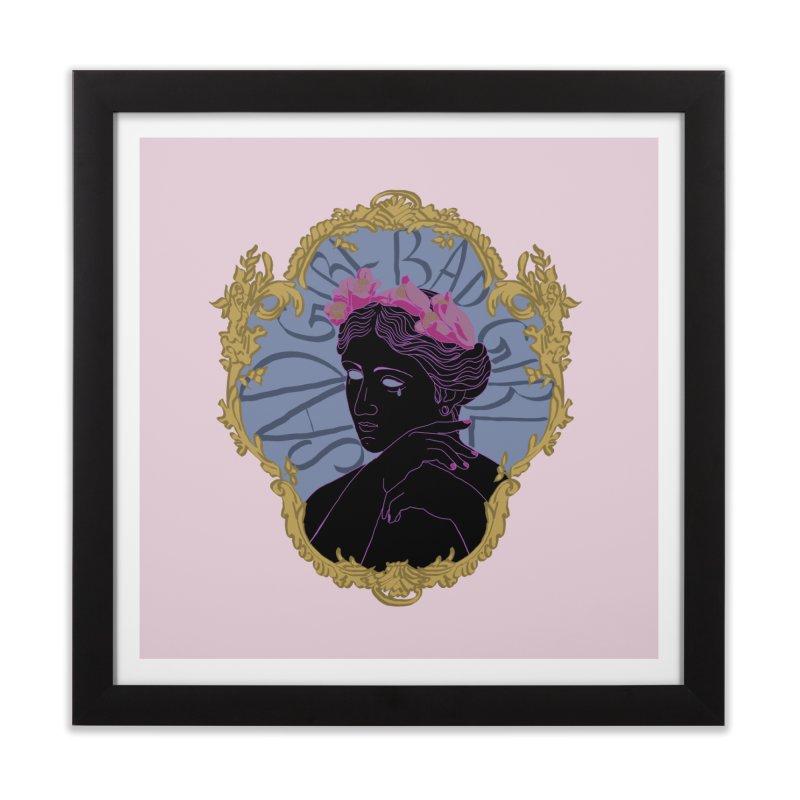 Lady Who's a Sad Girl Bad Girl Home Framed Fine Art Print by Saraemor