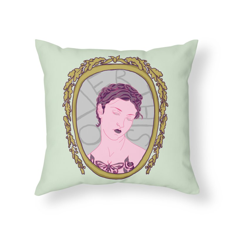 Lady Who's Over This Home Throw Pillow by Saraemor