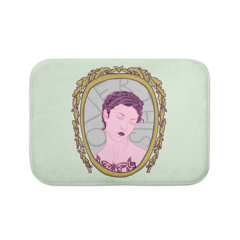 Lady Who's Over This Home Bath Mat by Saraemor