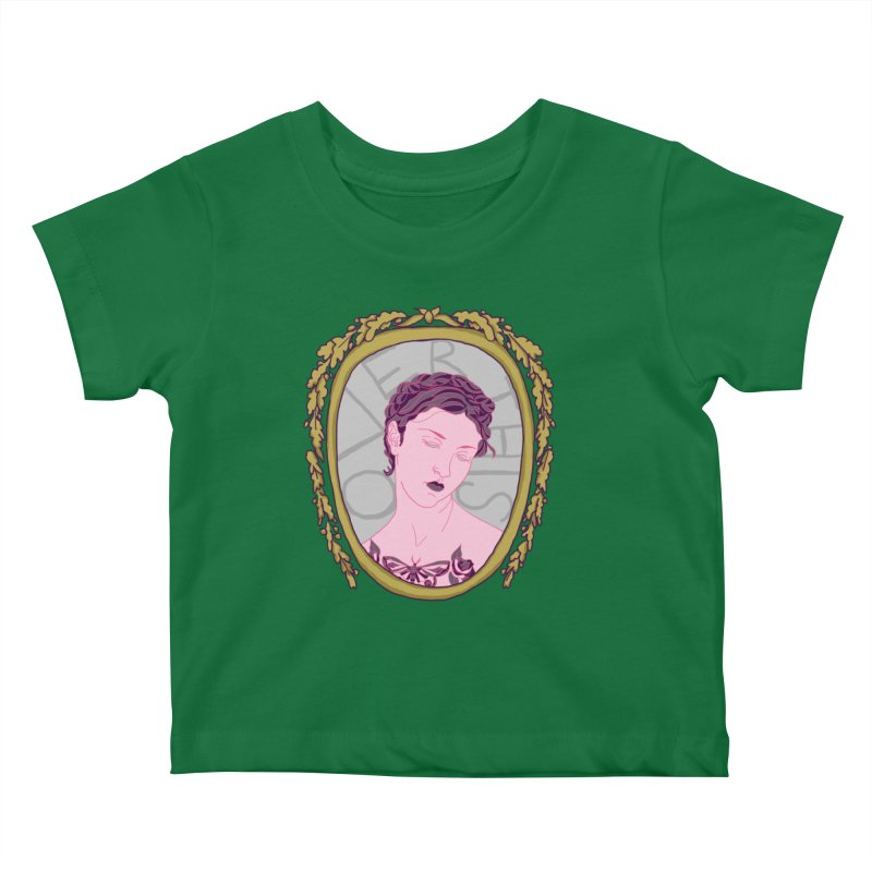 Lady Who's Over This Kids Baby T-Shirt by Saraemor