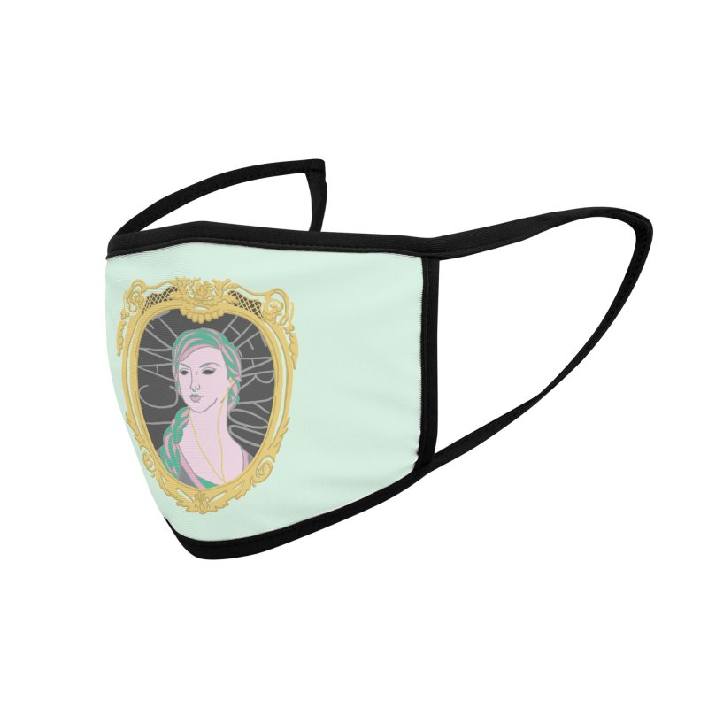 Lady Who Can't Hear You Accessories Face Mask by Saraemor