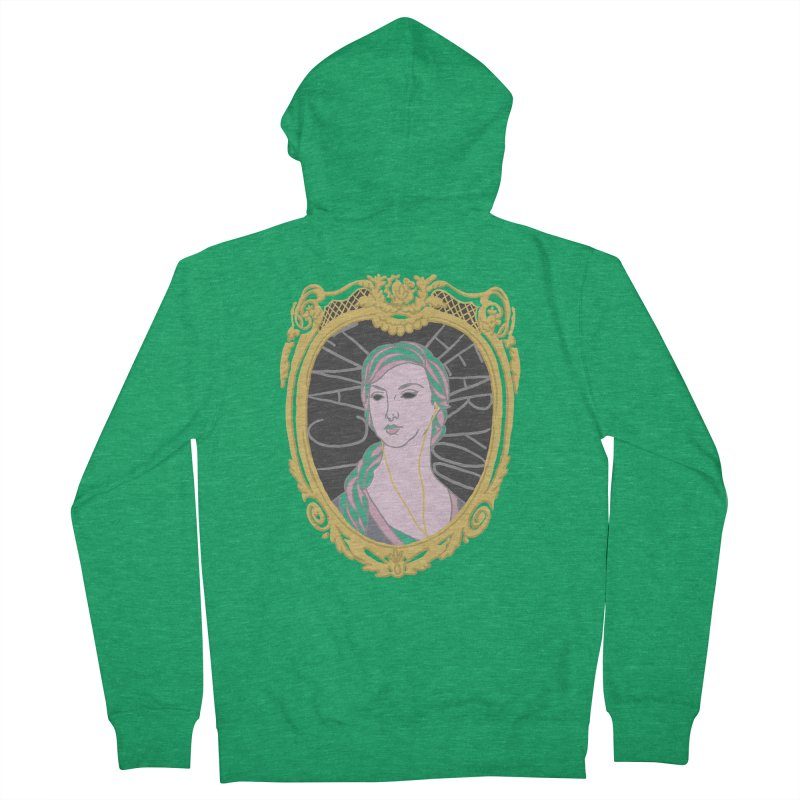 Lady Who Can't Hear You Women's Zip-Up Hoody by Saraemor