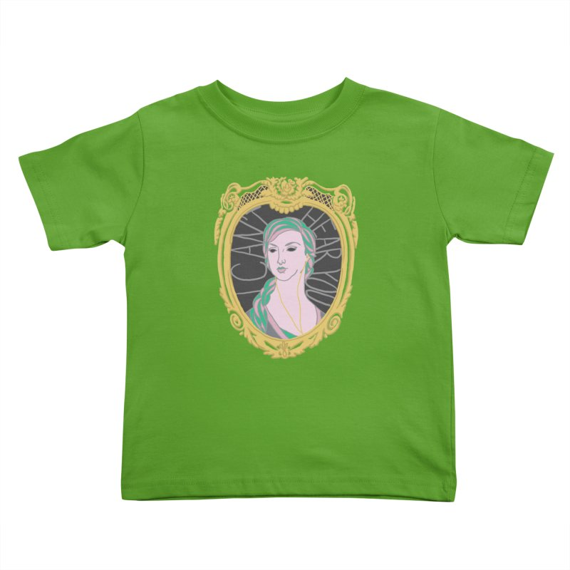 Lady Who Can't Hear You Kids Toddler T-Shirt by Saraemor