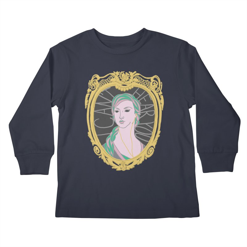 Lady Who Can't Hear You Kids Longsleeve T-Shirt by Saraemor