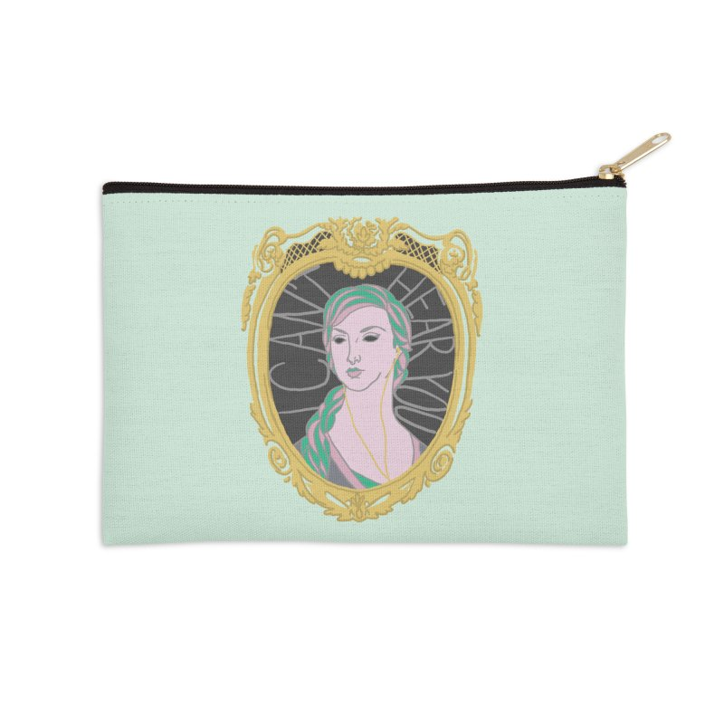 Lady Who Can't Hear You Accessories Zip Pouch by Saraemor