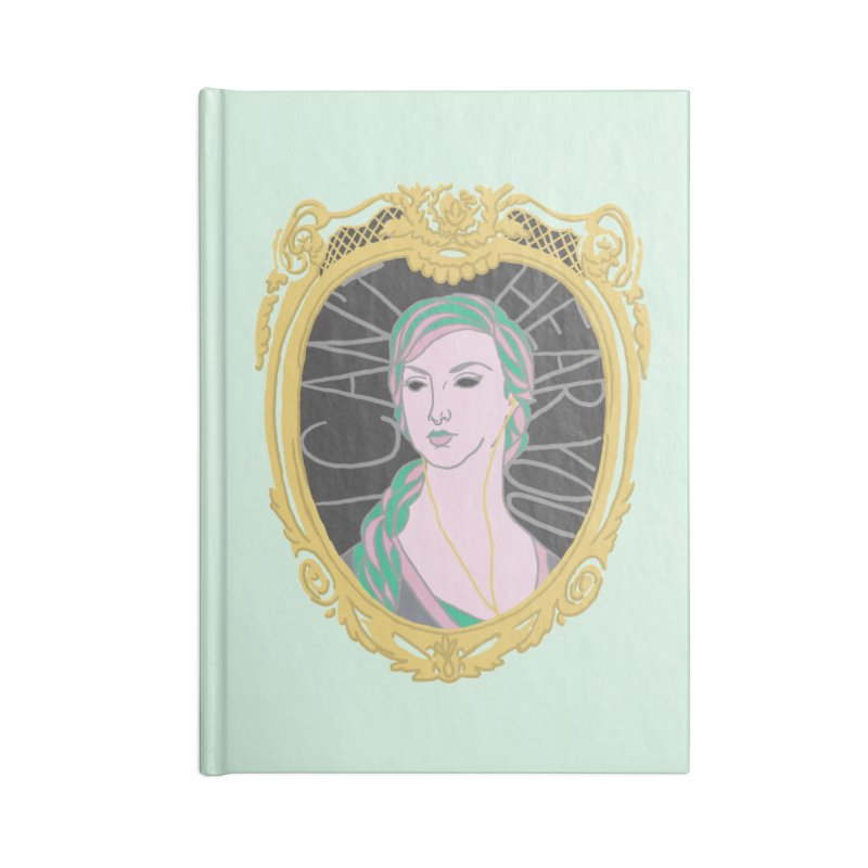 Lady Who Can't Hear You Accessories Notebook by Saraemor