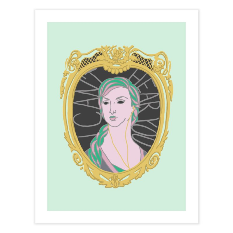 Lady Who Can't Hear You Home Fine Art Print by Saraemor