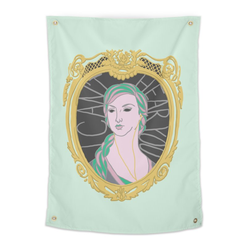 Lady Who Can't Hear You Home Tapestry by Saraemor
