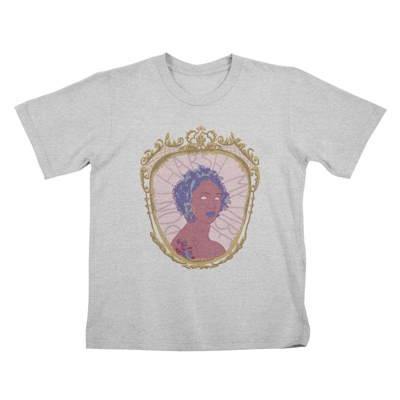 Don't Harsh My Vibe Lady Kids T-Shirt by Saraemor