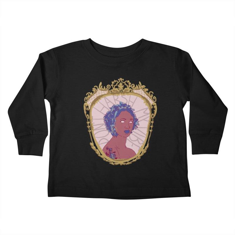 Don't Harsh My Vibe Lady Kids Toddler Longsleeve T-Shirt by Saraemor