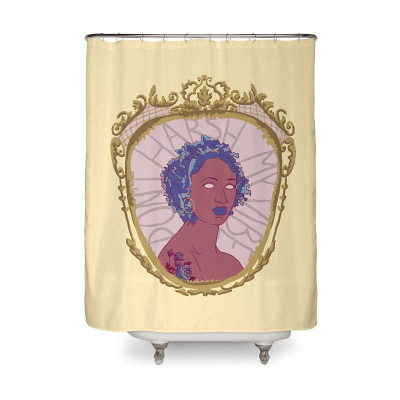 Don't Harsh My Vibe Lady Home Shower Curtain by Saraemor