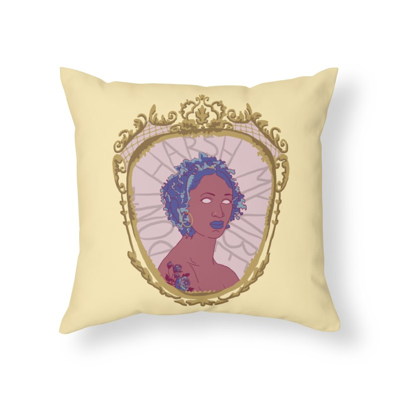 Don't Harsh My Vibe Lady Home Throw Pillow by Saraemor