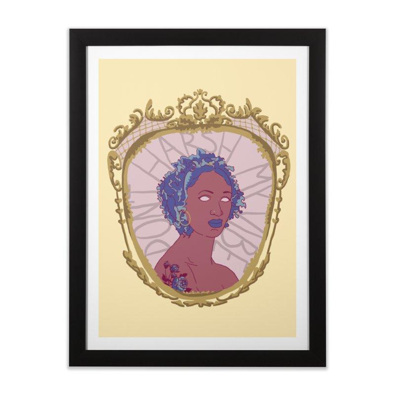 Don't Harsh My Vibe Lady Home Framed Fine Art Print by Saraemor