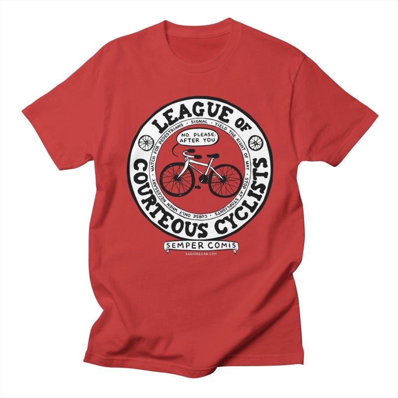 League of Courteous Cyclists Men's T-Shirt by Sarah Becan