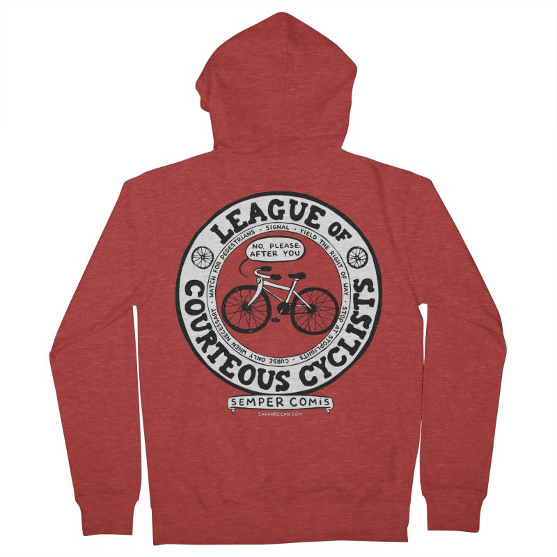 League of Courteous Cyclists Women's French Terry Zip-Up Hoody by Sarah Becan
