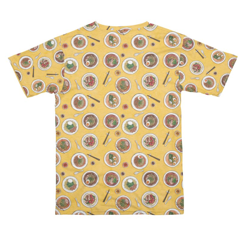 Yellow Ramen Bowls Men's Cut & Sew by Sarah Becan