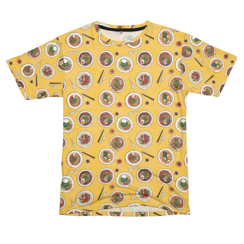 Yellow Ramen Bowls Men's T-Shirt Cut & Sew by Sarah Becan