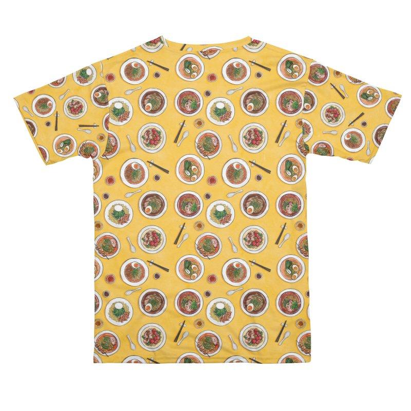 Yellow Ramen Bowls Men's Cut & Sew by Sarah Becan