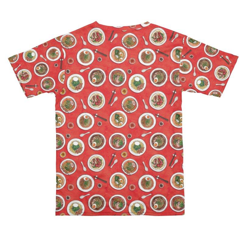 Red Ramen Bowls Men's Cut & Sew by Sarah Becan