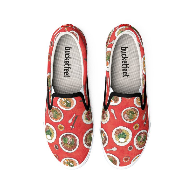 Red Ramen Bowls Men's Shoes by Sarah Becan