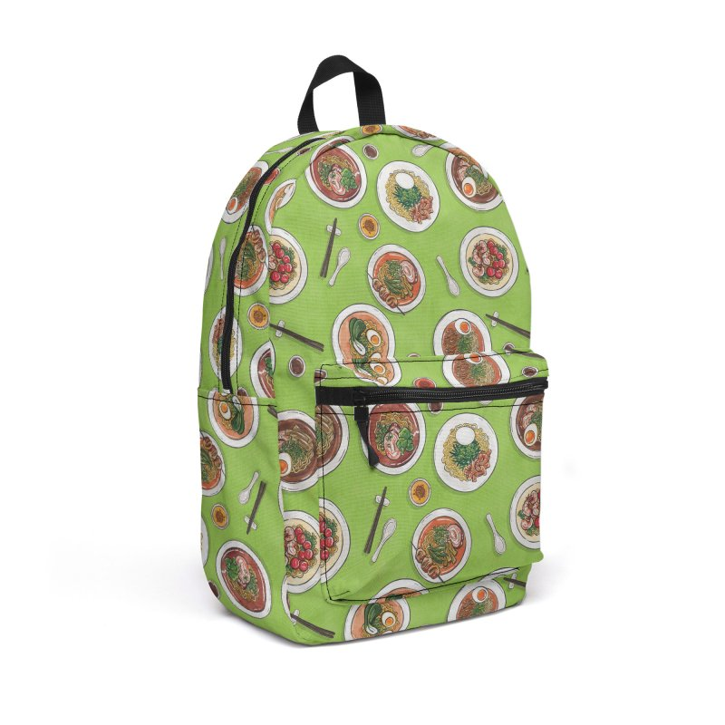 Green Ramen Bowls Accessories Backpack Bag by Sarah Becan